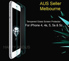 Apple iPhone 4 5 5s 5c SE Tempered Glass Screen Film / Plastic Protector
