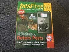 Official Pestfree - Electronic Pest Free Deterrent Deter Cats Dogs Rabbits Foxes