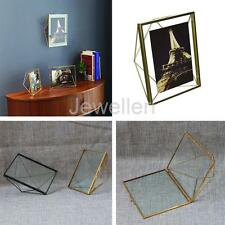 Vintage Style Clear Glass Freestanding Photo Frame Portrait Home Table Decor