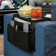 Sofa Couch Remote Control Holder Arm Rest Organizer Storage Tray Bag 6 SU
