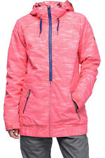 NEW ROXY WOMEN VALLEY HOODIE SNOWBOARD SKI SNOW JACKET S 4 8 INSULATED 10K PINK