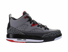 Kids Air Jordan Son Of Mars Low GS Cement Grey White Black Fire Red 580604-004