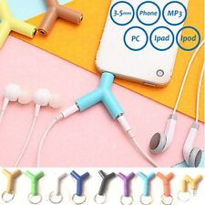 3.5mm Double Jack Adapter to Earphone for Phone MP3 Player Y-Splitter Adapter