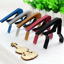 Silver Classic Guitar Clamp Electric Clamp Key Capo For Acoustic Quick Change