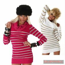NEW WOMENS JUMPER SWEATER CASUAL DRESS TOP SEXY SIZE 8 10 12 PINK WHITE GLITTER