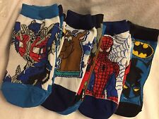Boys 3 Pack Socks 6-8.5 Batman Spiderman Scooby Doo ! Transformers.