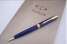 Parker Sonnet Matte Ballpoint High Quality Blue Pen with Gold/Silver Plated Trim
