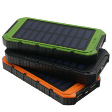 300000mAh Solar Power Bank Portable Mobile Charger Waterproof Battery Backpack