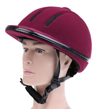 Velvet Safety Horse Riding Equestrian Helmet Protective Riding Hat Ventilated