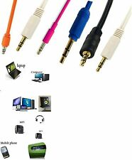 3.5mm Stereo Jack Plug To Plug Male Cable - Aux Audio Lead For Headphone/Aux/MP3