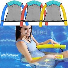 1Pcs 6 x 150CM Soft Noodle Pool Mesh Water Floating Bed Chair Swimming Swim Seat