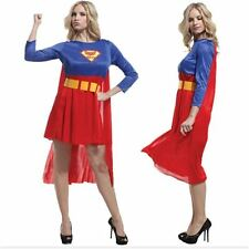 Super Hero Logo Printed Outfit Womens Ladies Fancy Theme Party Costume