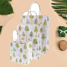 5 Pieces Tree Flower Party Paper Gift Bags with Handle Retail Loot Shopping Bags