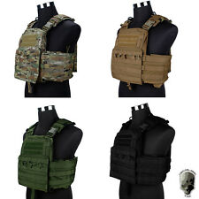 TMC Cherry Plate Carrier Tactical Vest NCPC Army Molle Genuine Gear CP CB Black