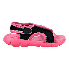Nike Sunray Adjust 4 Infants/Toddlers Shoes Black/Pink/Pure Platinum 386521-001