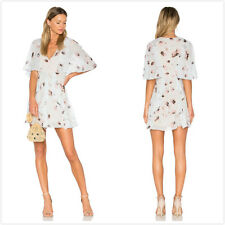2017New BCBG Max Azria Mabel Floral Print Ruffle Silk Dress Sold Out Best Seller