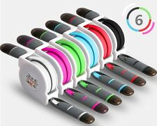 Retractable USB Data Sync Charger Cable Cord Wire For iPhone 6 Plus 5S 5 iPod