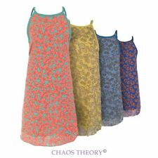 Ladies Womens New Leopard Chiffon Beach Party Summer Dress Floral Vest Top 8-14