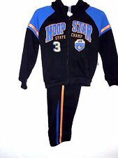 MAD GAME -Toddler Boys Size 3T, 4T PREMIUM BLACK/BLUE-HOODIE-PANTS-SPORTS-OUTFIT