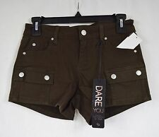 Celebrity Pink Juniors Denim Cargo Shorts NWT Size Brown R1.B8