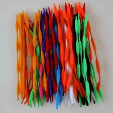 """100/200/300pcs Bump Bumpy Chenille Stems/ Pipe Cleaners 12"""" Long Mixed Color DIY"""
