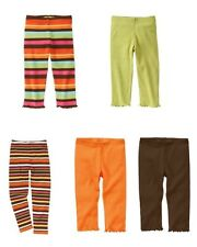 NWT Gymboree Woodland Friends fall autumn striped, green, orange leggings 3T 5T