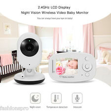 2.4'' LCD 2.4G Wireless Digital Video Baby Monitor Night Vision Two-way Talk