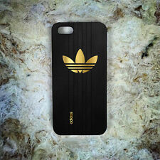 Adidas Gold Logo Black Shoes Print On Hard Plastic Cover Skin Case For iPhone