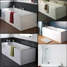 Single Double Ended Straight White Bathtub Bath Glass Screen with Acrylic Panels