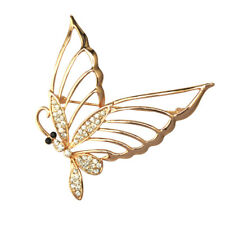 Fashion Glitter Crystal Butterfly Alloy Charms Brooches Pins Jewelry Decorations