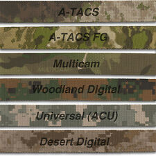 "MILITARY CAMO WEBBING, 6 Mil Spec Variations 1"" Wide, Double Sided, Auth Dist."