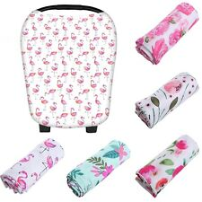 Multi-Use Stretchy Newborn Infant Nursing Cover Baby Car Seat FLOWER Cart Canopy