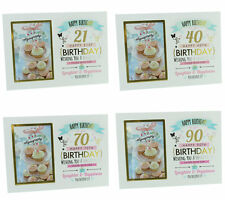 Signography Age Birthday Gift Photo frame  21st, 30th, 40th, 60th, 90th