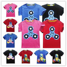Toddlers Kids Boys Casual Fidget Finger Spinner Print T shirts Tees Tops Clothes