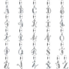 26 Letters 925 Dangle Sterling European Silver Charms Bead for Bracelet Necklace