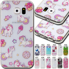 For Samsung Galaxy S6 Cute Silicon Fashion Case Cover Back Pattern Soft TPU Skin