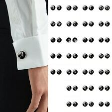 Popular Stainless Steel Alphabet Mens Wedding Gift Shirt Cufflinks Cuff Links
