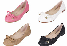 WOMENS LADIES FLAT SLIP ON BALLERINA DOLLY SLIPPERS LOAFERS PUMPS SHOES SIZE 3-8