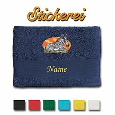 Towel Shower Towel Bath Towel Cotton embroidered Embroidery Zebra + Name