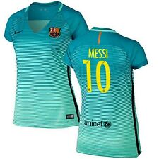 NEW 2017 WOMEN'S Barcelona Lionel Messi Third Soccer Jersey football camiseta