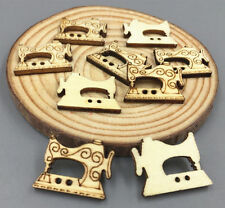 Wooden Retro Sewing Machine Buttons Sewing Button crafts scrapbooking 23mm