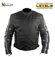 Xelement Men's Black and Gray Vented Level-3 Armored Tri-Tex Fabric Jacket XL