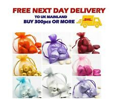 Small Organza Gift Bags 7x9cm Wedding Favours Party Jewellery Packing Pouches UK