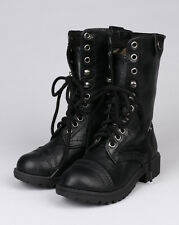 Happy Soda Oralee-2S New Leatherette Camouflage Lace Fold Cuff Military Boot (To