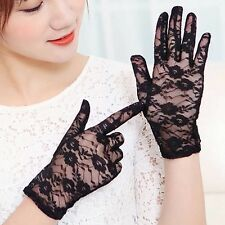 Women's Lace Gloves Summer UV Protection Driving Gloves Wedding Bridal Gloves