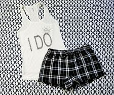 I Do Pajama Set - Women's Pajama Set - Flannel Shorts - Bachelorette Pajama Set