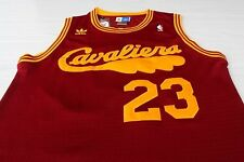 Cleveland Cavaliers #23 LeBron James Red Classic Throwback Swingman Sewn Jersey
