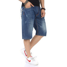 ROCAWEAR Mens Shorts Jeans Relaxed Classic Fit Hip Hop Denim Shorts Embroidery