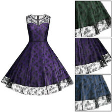 Vintage Lady 50s Retro Rockabilly Swing Housewife Cocktail Party Dress PLUS SIZE