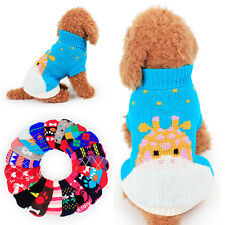 Winter Pet Dog Cat Puppy Cat Warm Woolen Sweater Top Costume Apparel